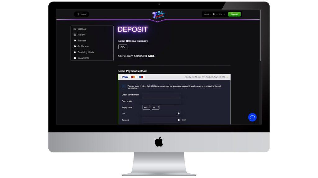 7Bit Casino Deposit Method