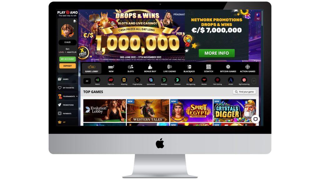 PlayAmo Homepage